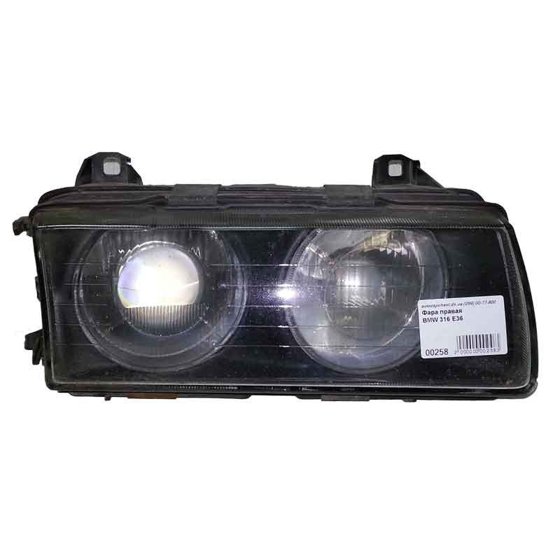 Фара основная правая BMW 3 E36 (1900-2000) ZKF 5190400000 / 8353802 линза фото
